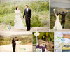 Bride-and-groom-in-white-wedding-dress-black-grooms-tux-pose-outside-with-orange-county-hills-in-background.square