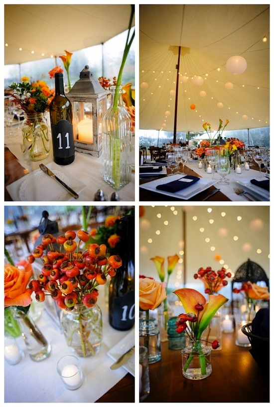 Wedding Reception Decor Fall