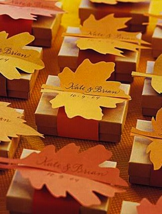 Leaf Inspired Favors