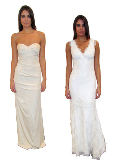 White-column-strapless-sweetheart-nicole-miller-wedding-dress-v-neck-lace-sophisticated-bridal-style.full