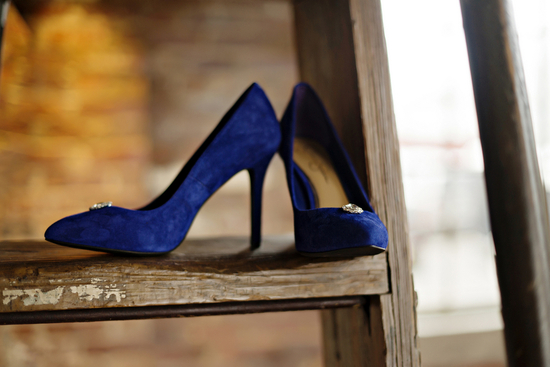 Blue Shoes For The Bride