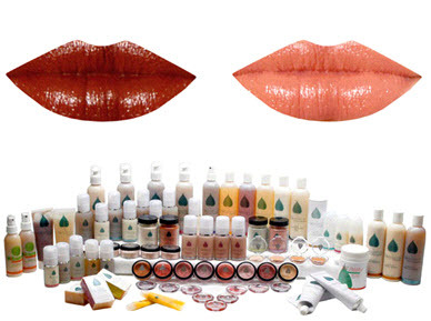 Eco-friendly, organic colored lip balm for your bridal beauty look