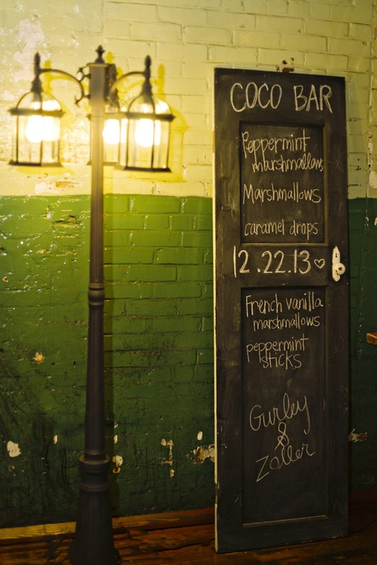 Drinks Menu with Chalkboard Door