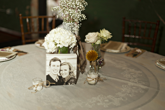Table Centerpieces with Vintage Twist