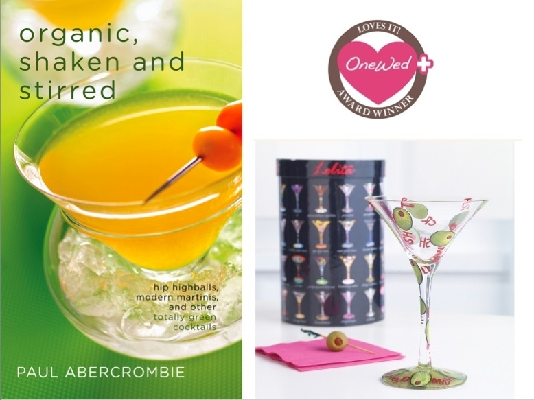 Delicious organic cocktail recipes perfect for your wedding reception, and an adorable martini glass