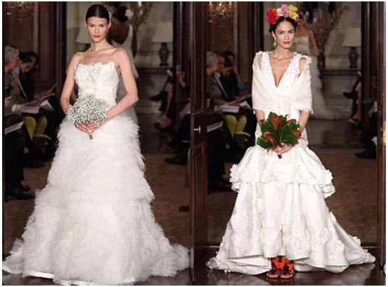 Dramatic Spring 2011 wedding dresses from Carolina Herrera- Couture at its best!