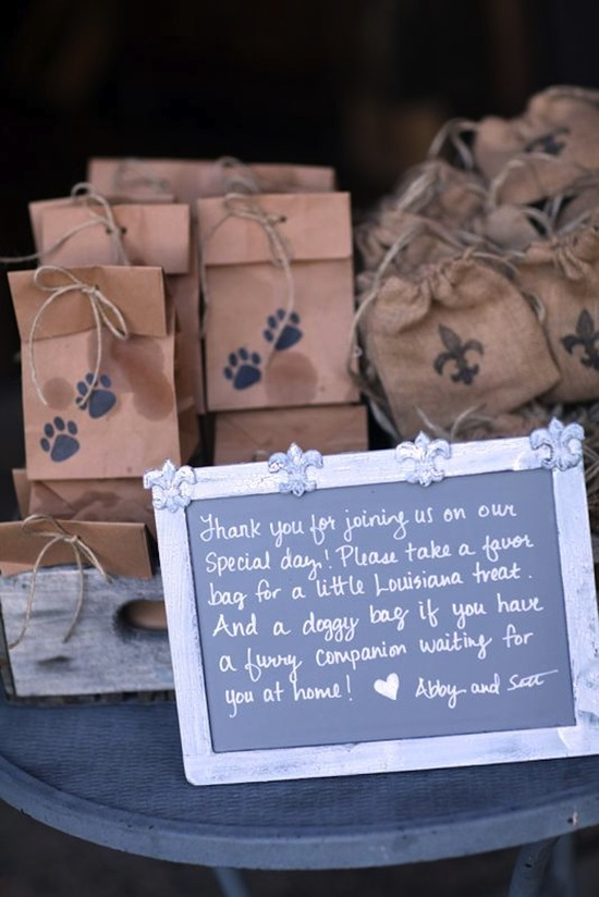 Take Home Favors for Pups