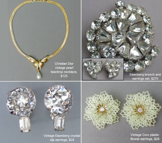 Beautiful vintage, eco-friendly bridal jewelry from Glitterbug