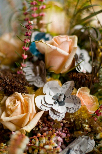 Inventive-bridal-bouquet-peach-coral-new-york-times-paper-flowers-winter-wedding-chic-rustic.full