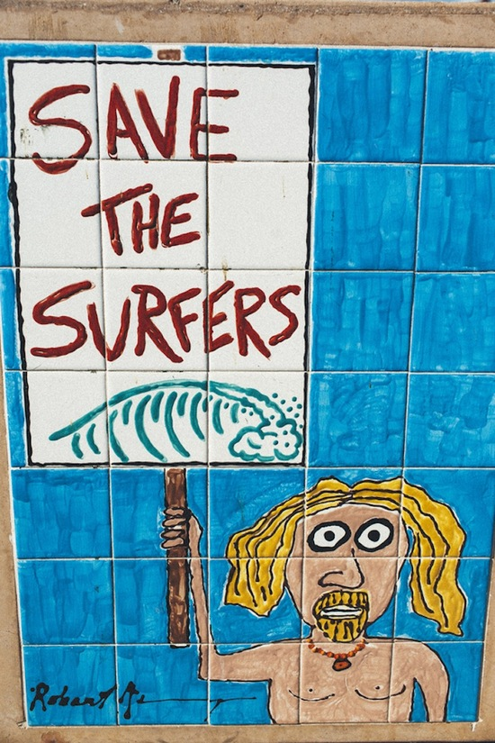 Save the Surfers Sign