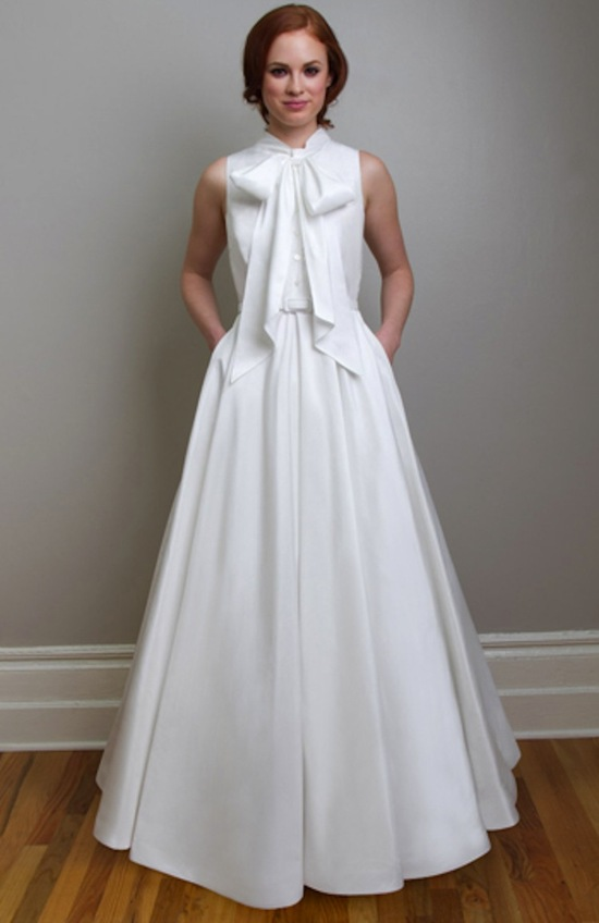 photo of Trend Alert! The Shirtwaist Wedding Dress