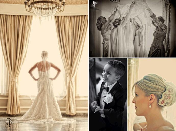Bride-in-ivory-beaded-strapless-wedding-dress-classic-veil-roses-in-hair-adorable-ring-bearer.full