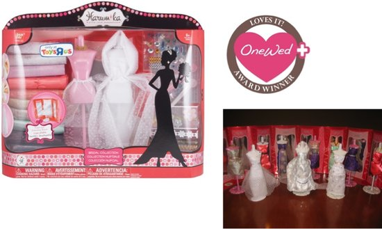 OneWed loves the bridal kit that allows you to design your own wedding dress and bridesmaids' dresse