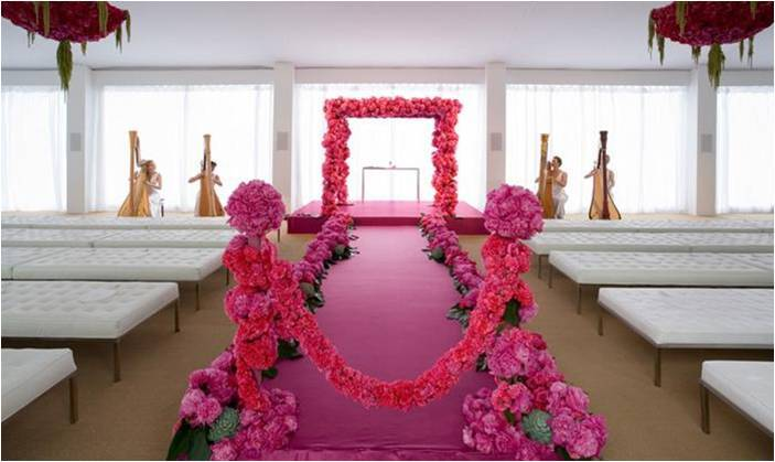 Pave-floral-design-chic-pink-wedding-carnations-peonies-monochromatic-wedding-ceremony-arbor.full