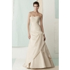 Strapless-a-line-cream-ivory-wedding-dress-gathered-on-side-with-flower.square