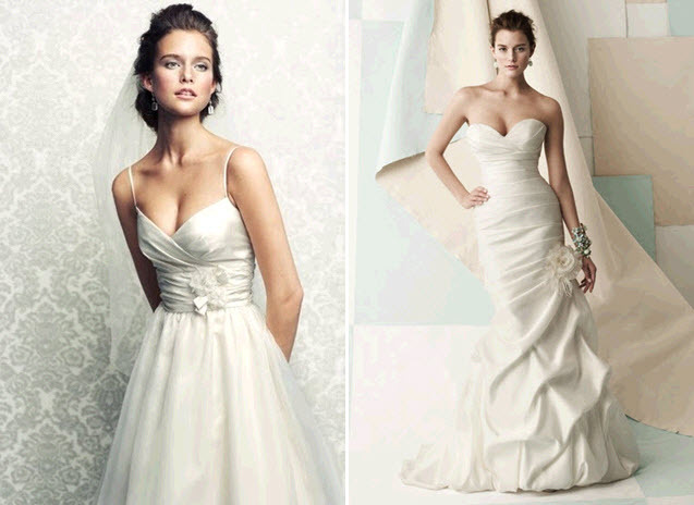 Simple-chic-mikaella-wedding-dresses-v-neck-thin-straps-deep-sweetheart-neckline-floral-applique.full