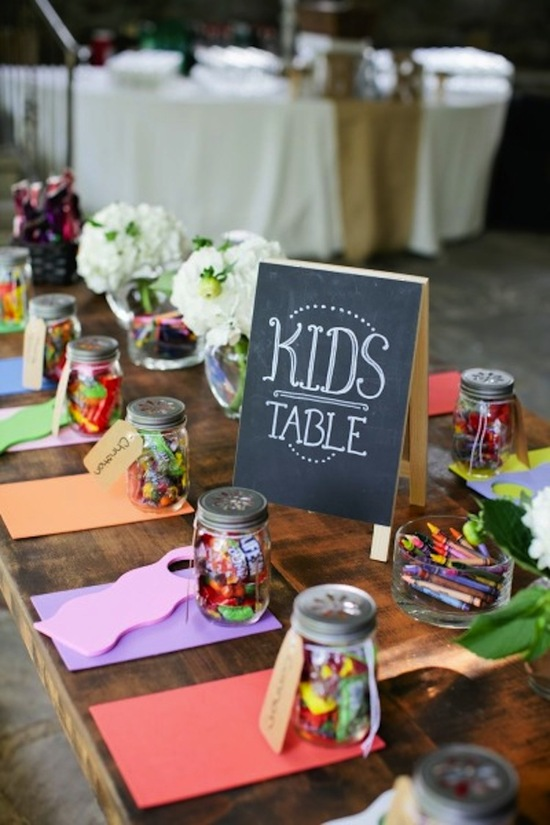 Cute kids table colorful