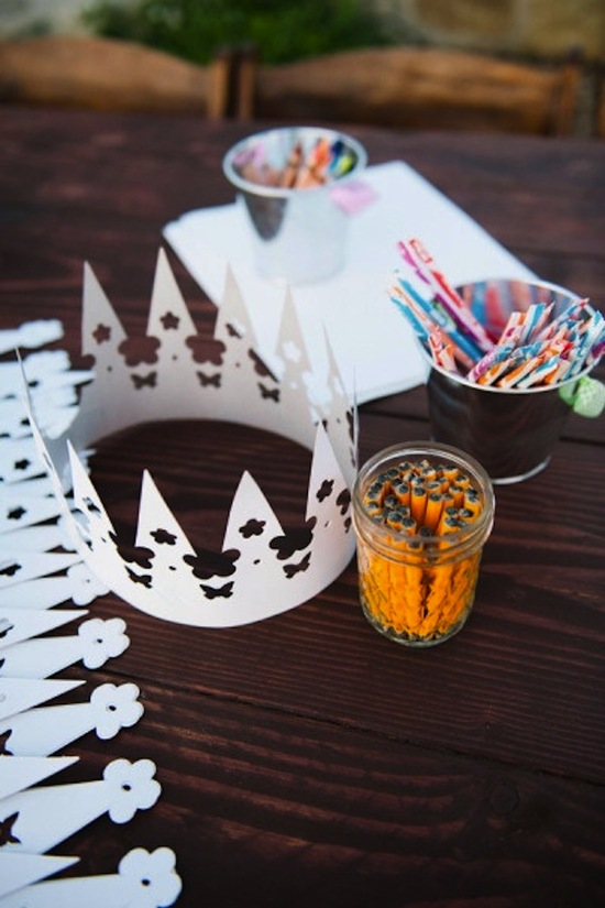 Crown and Coloring for the Kids