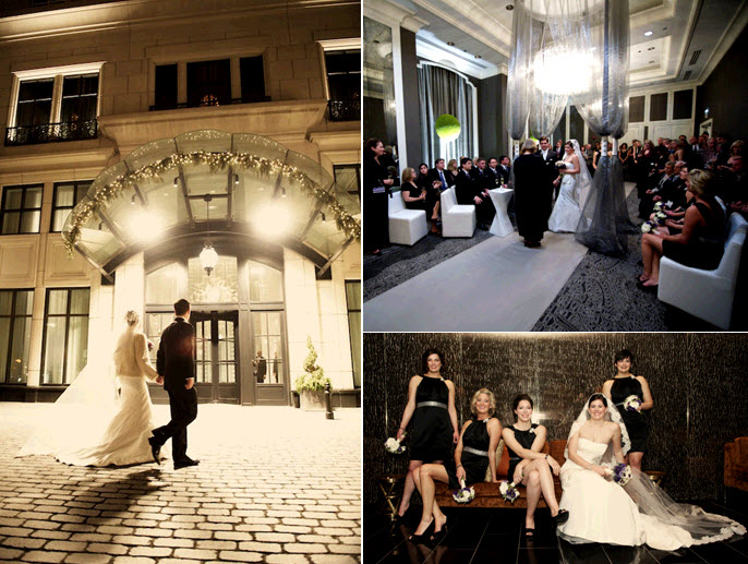 Winter-chicago-downtown-wedding-bride-groom-walk-into-wedding-reception-amsale-wedding-dress.original