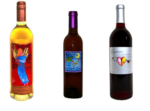 Wine from Quady Winery comes in attractive bottles with beautiful labels.