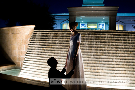 081017-wedding-photography-San-Antonio-LDS-temple-couple-kneeling-holding-hands-fountain-light