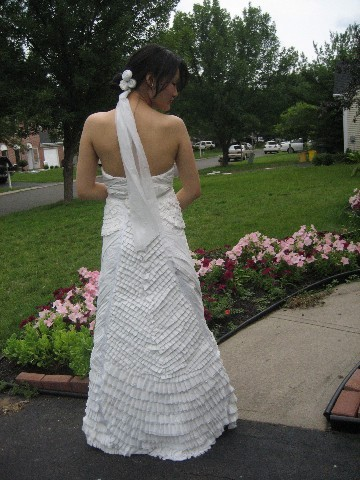 photo of Annual Toilet Paper Wedding Dress Contest