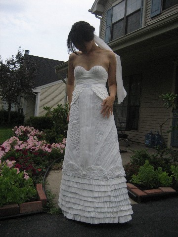 Annual Toilet Paper Wedding Dress Contest