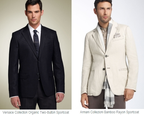 Beautiful Armani Collezioni suit jacket made from bamboo-tweed, perfect for a casual groom