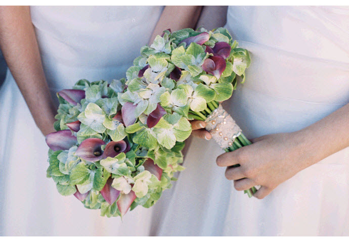 Bridesmaids-bouquets-romantic-whimsical-wedding-vintage-chic-pink-green-ivory.full