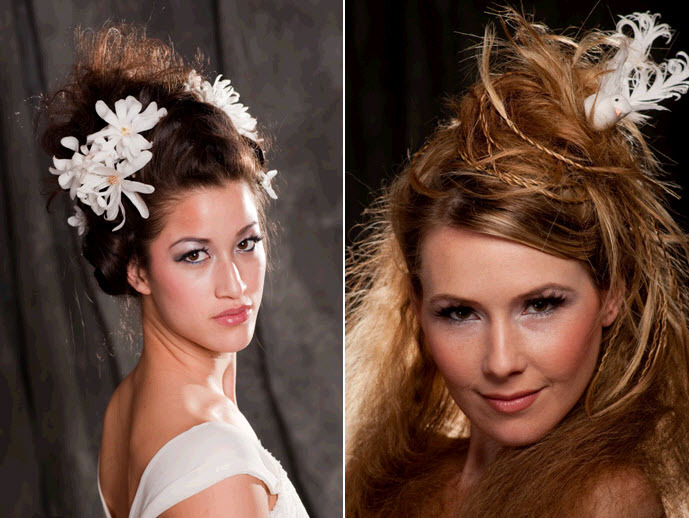 Exotic-wedding-hairstyle-with-white-magnolias-arranged-in-updo-flower-bird-accent-in-hair.full