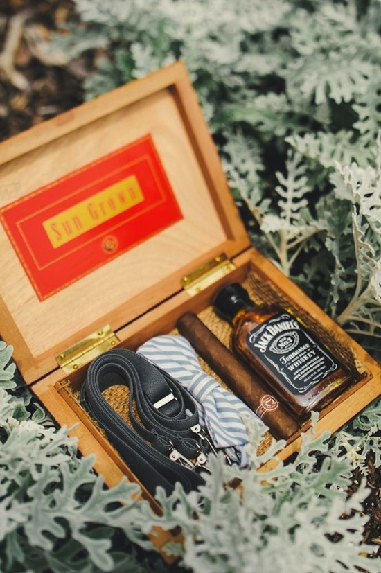 A Box of Gifts for the Groom
