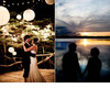 Bride-and-groom-have-first-dance-under-chinese-white-lanterns-beautiful-sunset.square