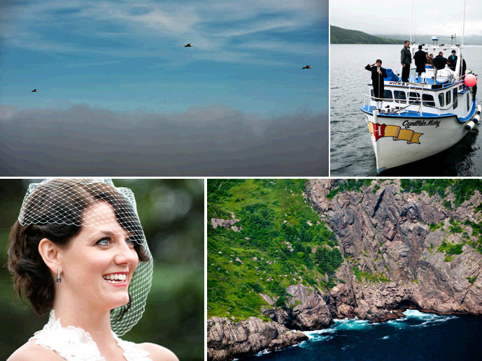 Natural-outdoor-island-wedding-newfoundland-bride-wears-white-birdcage-veil-vintage-chic.full