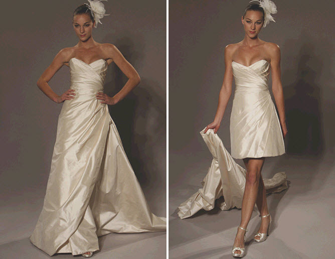 by Romona Keveza ivory convertible wedding dress- simple and stunning!