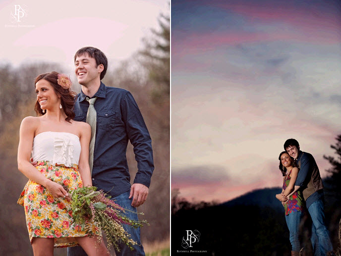 Gorgeous-outdoor-engagement-session-sunset-purple-blue-sky-bride-wears-rose-in-hair.original