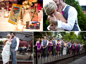 photo of Featured Wedding With An Edge: Caitlin and Mitchell
