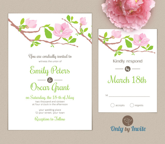 magnolia-wedding-invitation+rsvp-onlybyinvite