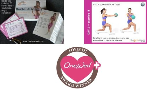 We love these exercise cards from Gym Coach. They're perfect for the bride trying to get in shape be
