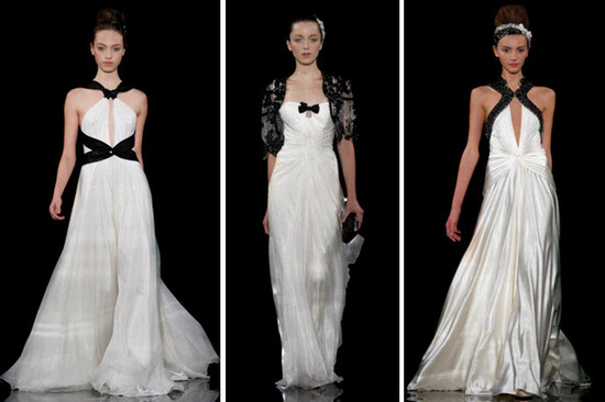 Gorgeous and chic Jenny Packham wedding dresses- all incorporate a black accent