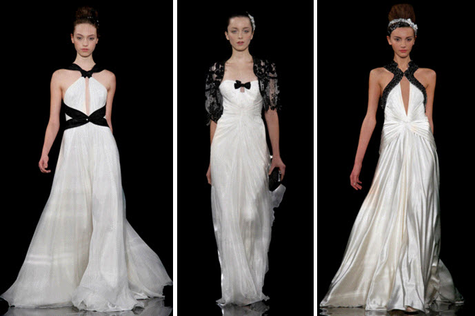 Gorgeous and chic jenny packham wedding dresses all for White wedding dress with black accents