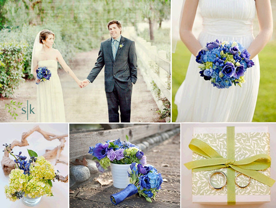Wedding Decorations Blue And Purple Wedding Reception Tablescape