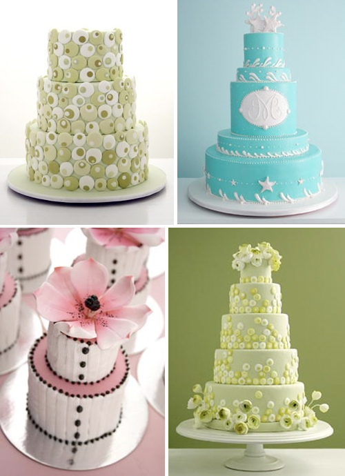 Stunning spring wedding cakes by Cakegirls