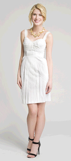 Classic white above the knee Philosophy dress with empire waist