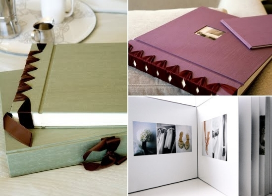 Eco-chic recycled wedding photo albums from Cypress Albums