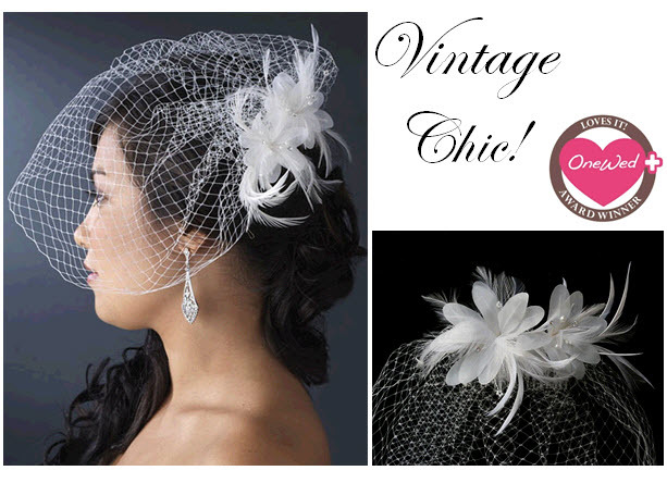 A beautiful birdcage veil for the vintage-loving bride-to-be!