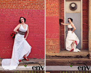 photo of Retro Rock The Dress Bridal Shoot: Pretty Meets Gritty!