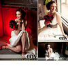 Retro-vintage-chic-bride-poses-with-deep-red-bridal-bouquet-red-bridal-shoes-white-wedding-dress.square