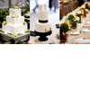 Two-wedding-cakes-wite-modern-square-three-tier-adorned-with-yellow-black-green-details-flowers.square