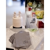 Museum-modern-wedding-details-cocktail-napkins-with-monogram-grey-black-adorable-cake-topper.square
