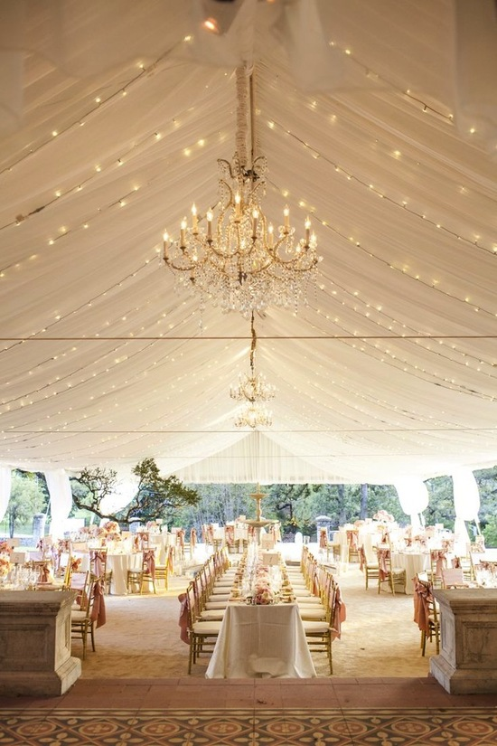 Tented Reception Drapes